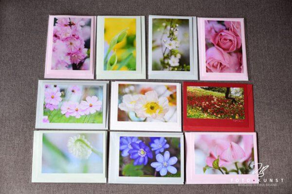 Handgefertigte Fotokunstkarten